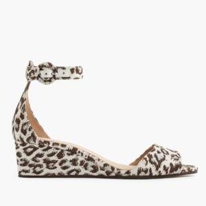Like New! J. Crew Laila Cheetah Wedge Sandals